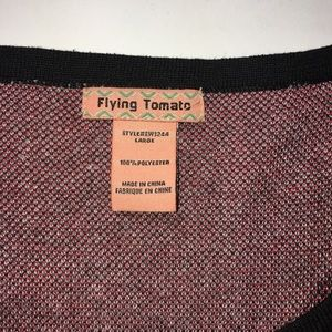 Flying Tomato Dresses - Flying tomato fitted sweater dress red black SZ L